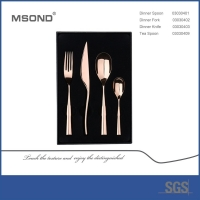 Buy cheap Eco Friendly 206mm Luxury 304 SS Cutlery Set Mirror Polish from wholesalers