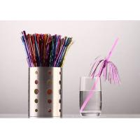 Buy cheap 6mm Attactive disposable party decoration firework drinking straws,pack of 20count from wholesalers