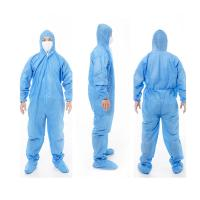 Buy cheap Medical Coverall Disposable Protective Suit Nonwoven Surgical Protective Clothing from wholesalers