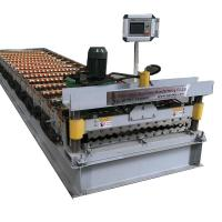 Buy cheap Corrugated Galvanized Metal Roof Panel Tile Making Machinery 4kw Power from wholesalers