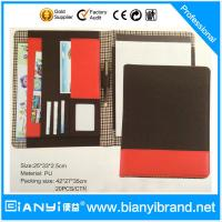 Buy cheap PU luxury custom padfolio / good quality pu leather zipper compendium folder / logo presen from wholesalers