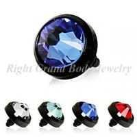 Buy cheap Black PVD Dermal Tops Anchor Jewelry High Polish With Rhinestone from wholesalers