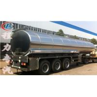 Buy cheap high quality and best price stainless steel 40000L-50000L milk tank trailer for sale, HOT SALE!40-50m3 milk tank from wholesalers
