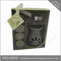 Buy cheap Sweet Smelling Ceramic Scented Oil Burner With Small Candle In The Box product