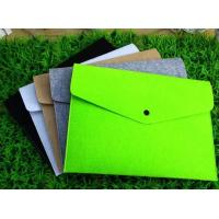 Buy cheap Wholesale A4 size Eco-Friendly felt file bag, Felt Document Folder from wholesalers