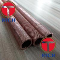 Buy cheap UNS12200 UNS14200 Spiral Brass Fin Tube Red Copper Fin Tube Heat Exchanger from wholesalers
