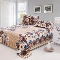 Buy cheap flower printed flannel bedding set from wholesalers