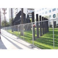 Buy cheap Portable Galvanized Iron Chain Link Wire Mesh Fence For Construction from wholesalers