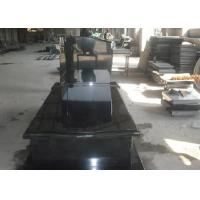 Buy cheap Black Granite Memorial Headstones For Tombstone Polished Surface Finish from wholesalers