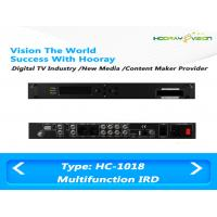 Buy cheap All In One Terrestrial Digital TV Satellite Receiver IRD Support 2 CAM with HDMI SDI AV USB from wholesalers