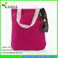 Buy cheap LUDA wholesale red handbags cheap cotton canvas beach tote shoulder handbags from wholesalers