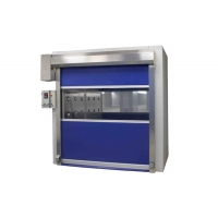 Buy cheap Stainless Steel Door Frame Auto Cargo Air Shower Room With Fast Rolling Door product