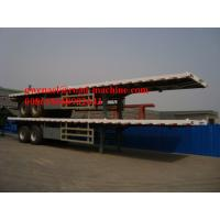 Buy cheap 13m Length Flat Bed Concrete Mixer Trucks For Transporting 40 / 20 Container, 2 Axle/ 3 Axle from wholesalers