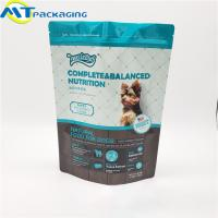 Buy cheap Stand Up Self Supporting Dog Food Pouches Zipper Lock Resealable Food Packaging product