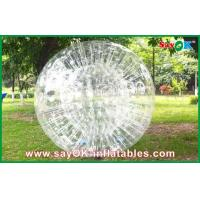 Buy cheap Transparent Inflatable Sports Games , Funny 0.8mm PVC Body Zorbing Ball from wholesalers
