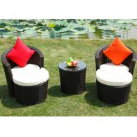 Buy cheap PE Rattan Patio Table And Chairs Outdoor Conservatory Furniture with Foot Pedal from wholesalers