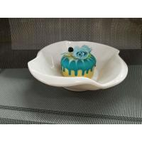 Buy cheap Plastic Porcelain Dinnerware Dessert Bowl Flower Decorative Border Top Dia.18CM from wholesalers