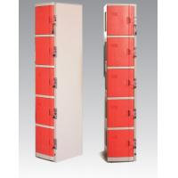 Buy cheap Supermarket Yellow Coin Return Lockers , 5 Comparts 1 Colum Swimming Pool Lockers from wholesalers