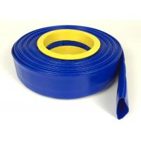 Buy cheap Blue PVC Layflat Hose / Flexible Plastic Hose For Agricultural Irrigation from wholesalers