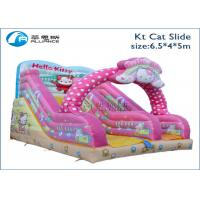 Buy cheap kids inflatable indoor outdoor playground slide KT cat inflatable slide from wholesalers