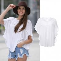 Buy cheap Newest Design Women Crochet Fashion Blouse Casual Style from wholesalers