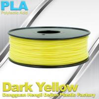 Buy cheap Makerbot Material Fluorescent Dark Yellow PLA 3d Printer Filament 1.75mm / 3.0mm product