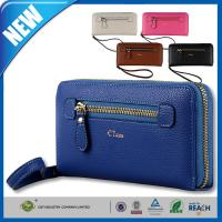 Buy cheap Women iPhone 6 Plus Protective Case , Leather Long Clutch Purse Card Holder Coin Zip Wristlet from wholesalers