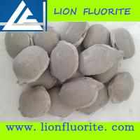 Buy cheap Steel-making raw material Low Silicon High Purity CaF2 90% Fluorite ball briquette type with competitive price from wholesalers