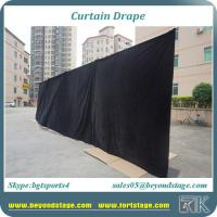 Buy cheap Hot sale 100% blackout and Flame Resistant black/red/white color for stage curtain drapes from RK from wholesalers