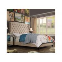Buy cheap Classic Soft Modern Upholstered Bed King Size With High Back Headboard from wholesalers