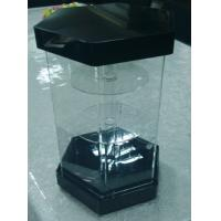 Buy cheap Hexagonal 3 Tiers Clear Turning Acrylic Watch Display Stand with Locking Case LED Light from wholesalers