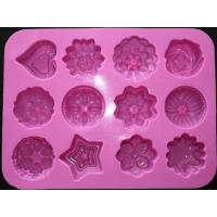 Buy cheap silicone muffin cake molds , flower shape silicone tray mold ,custom silicone from wholesalers