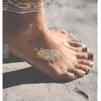 Quality Professional Metallic Foil Temporary Tattoos For Girls , Stamping And Silk Screen Printing for sale