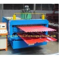 Buy cheap Corrugated Roof Tile Roll Forming Machine Double Layer 0.3mm - 0.8mm for Colored Steel Tiles from wholesalers