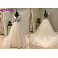 Buy cheap Ivory Long Sleeve Bridal Ball Gowns For Woman Boned And Hidden Bust Support from wholesalers