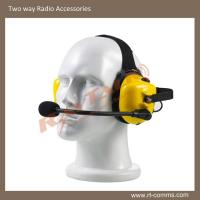 Buy cheap Yellow heavy duty/noise cancelling headset for two way radios B-50YQ from wholesalers