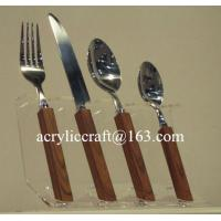 Buy cheap Kitchen acrylic knife display holder stand cheap PMMA forks & knifes rack from wholesalers