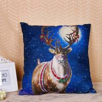 Buy cheap Linen / Cotton Pillow Cushion Covers With Printed Santa Claus Elk Pattern from wholesalers