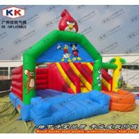Buy cheap Crazy Birds Inflatable Jump Houses Bouncing Moon Combo Kids Slide Games from wholesalers