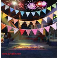 Buy cheap Event Party Supplies Birthday Wedding Christmas Decoration Multi-Color Fabric Bunting Penn from wholesalers