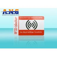 Buy cheap PVC Outside Rfid Blocking Card Holder Resistant / Puncture And Tear Resistant from wholesalers