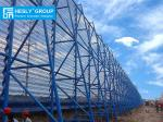 Buy cheap Corrugated Steel Windbreak Fence Panels for Coal Yard Dust Control, 35% - 40% aperture ratio, Blue Color RAL5005 from wholesalers