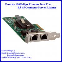 Buy cheap 1G Dual Port Gigabit Server Ethernet Network Card, RJ-45 Connector, Femrice 10002ET from wholesalers
