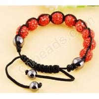 Buy cheap resin rhinestone shamballa bracelet from wholesalers