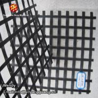China Factory supply cheap polyester geogrid PVC/SBR coating reinforced uniaxial geogrid on sale