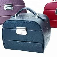 Buy cheap Fashionable Colored Portable Travel Jewelry Box Custoner Size For Cosmetics from wholesalers