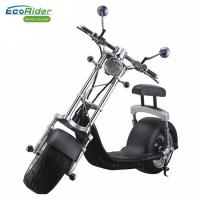 Buy cheap EcoRider 1200w 60v 12ah Chinese Lithium battery Balance Electric Scooter Citycoco Harley Scooter With Turning Lights product