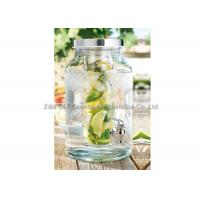 Buy cheap 5.7L Glass beverage dispenser with infuser / Jar With Spout For cold juice drinking product
