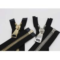Buy cheap Silver / Gold Teeth Open End 22 Inch Metal Separating Zipper For Dress / Causal Wear from wholesalers
