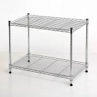 Buy cheap H124 Chrome Shelving Unit , Kitchen Storage Carbon Steel Chrome Metal Shelving from wholesalers